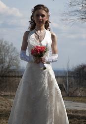 Касивое свадебное платье для миниатюрной девушки,  40-42 р.,  6000 р.
