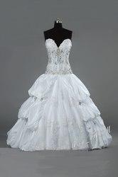 Сверкающее свадебное платье